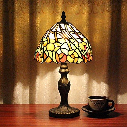 TOYM 8 inch Tiffany pastoral simplicity spring wild small night table lamp bedroom den reading handmade glass Tiffany - Tiffany Uk Returns