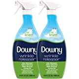 Downy Wrinkle Releaser Plus Static Remover (Crisp Linen) - 33.8 Fluid Ounce, Pack of 2