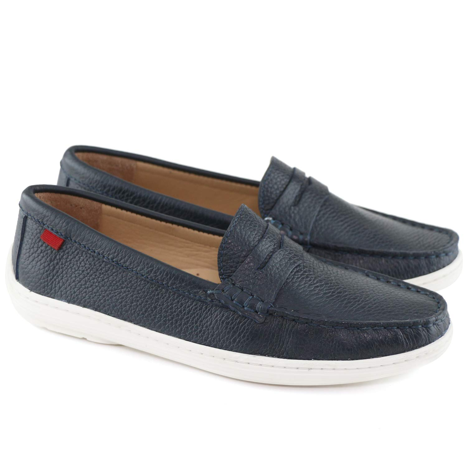 MARC JOSEPH NEW YORK Kids Boys/Girls Casual Comfort Slip On Penny Loafer Navy Grainy 5.5 by MARC JOSEPH NEW YORK (Image #4)