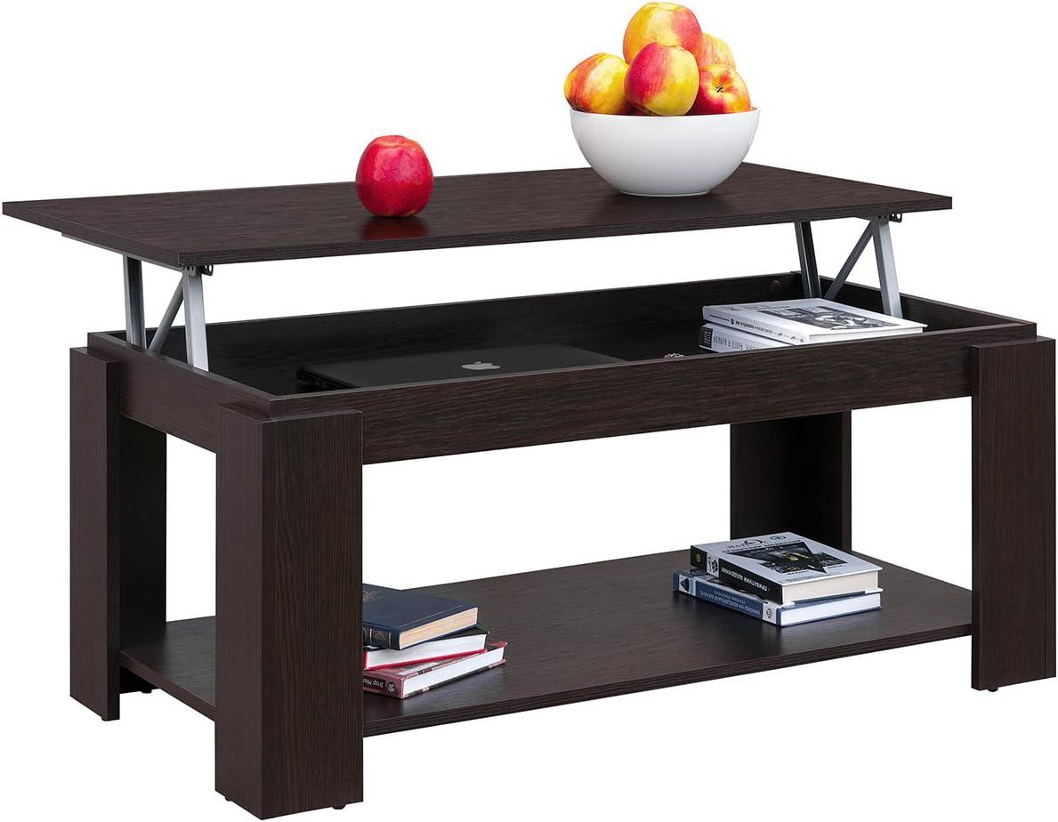 Kopen Comfort, in hoogte verstelbare salontafel met geïntegreerde krantenstandaard, afmetingen: 100 x 50 x 43/55 cm modern Eiken Sonoma Wengé MNdHjQh