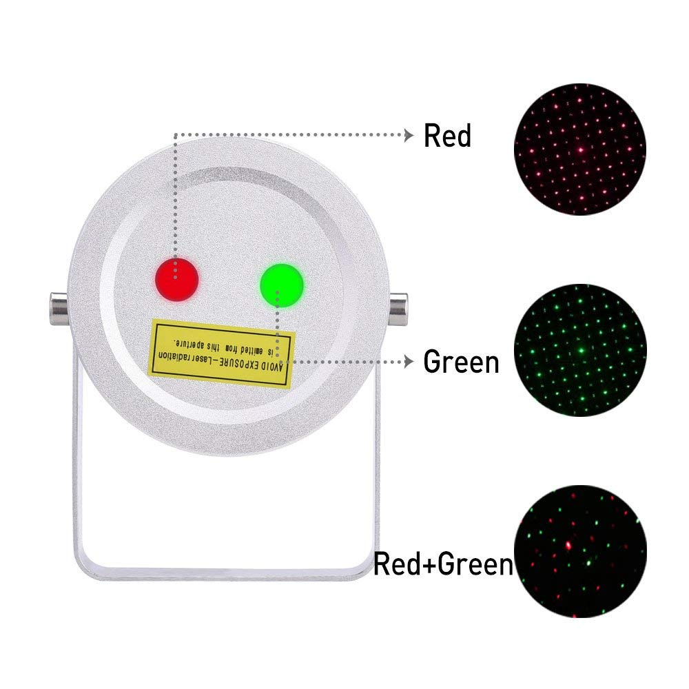 Christmas Laser Lights 2 Color Motion Star Projector with Remote Auto On/Off Timer by Ominilight for Holiday,Party,Wedding,Holloween