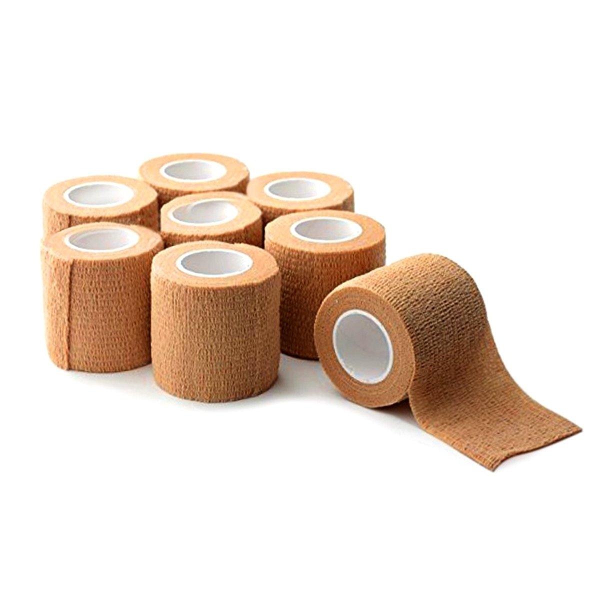 Self-Adhesive Bandage , Gedgetmann First Aid Bandage Wrap with Strong Elastic , Pressure Tape Gauze Bandage (8pcs) - 1000
