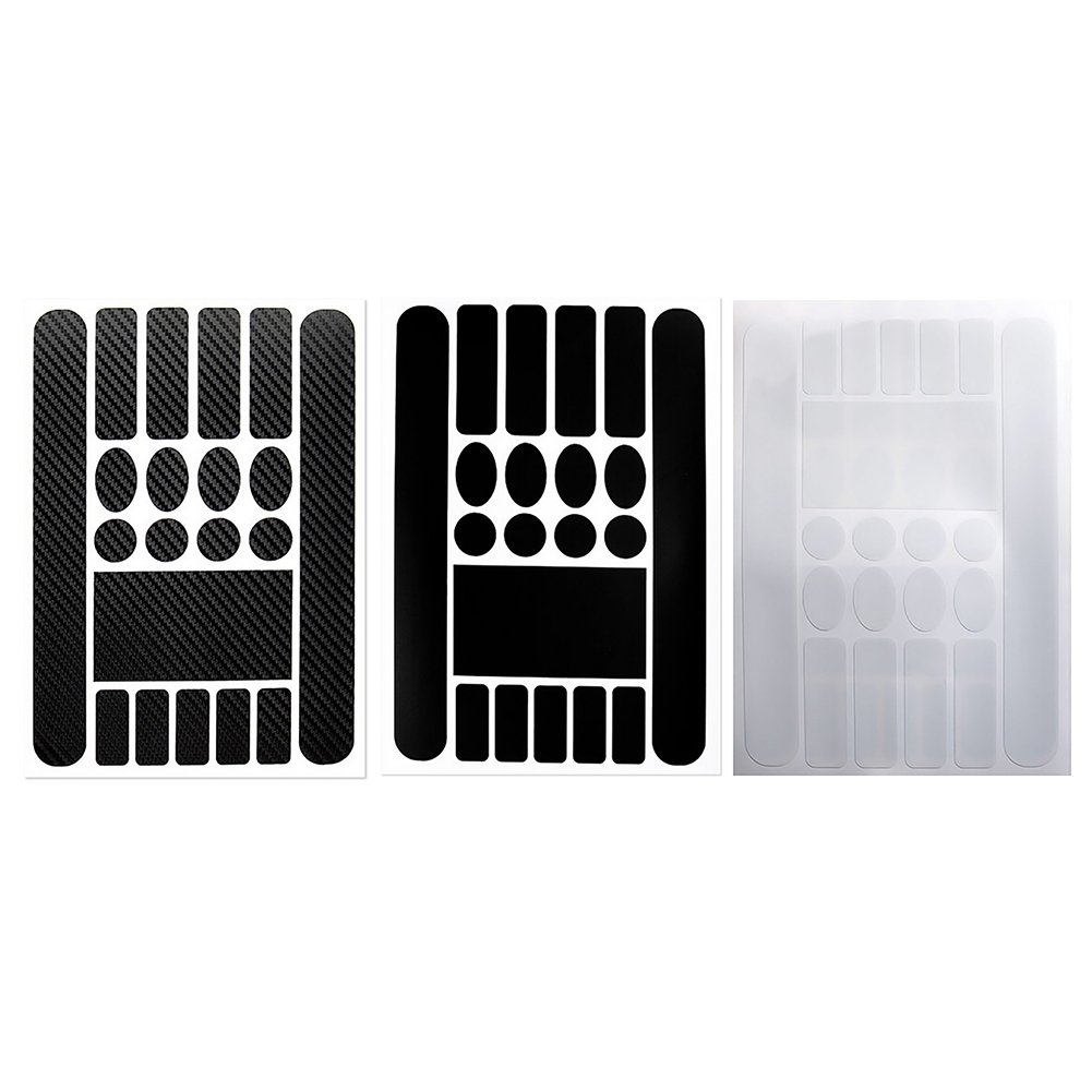 Black Vektenxi Premium Quality Simple Frame Chainstay Protector Bike Stickers