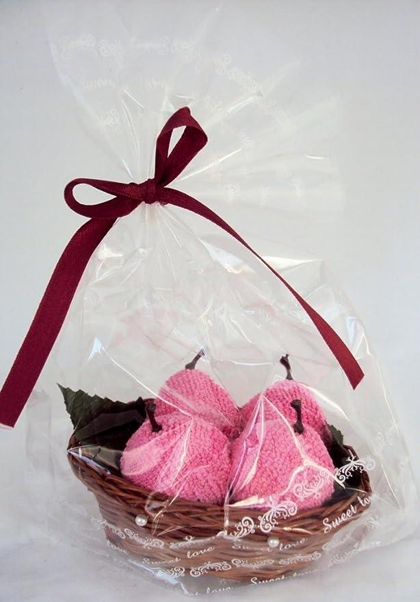 Rosa con toalla en una cesta frutas dulces en la cesta de la toalla de cara toalla tipo: Amazon.es: Hogar