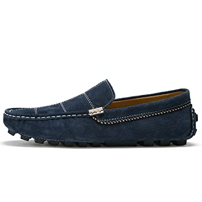 Men's Casual Comfort Suede Penny Moccasins Loafers Stitching Shoes