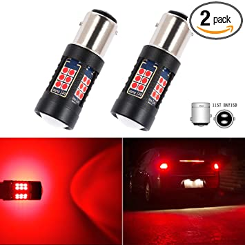 S25 1157 BAY15D P21/5W LED Bulb Brake Turn Signal Tail Side Marker Lights RED