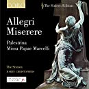 Allegri: Miserere / Palestrina: Missa Papae Marcelli