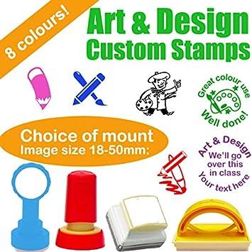 Art Design Teacher Stamps Choice Of 4 Self Inking Custom