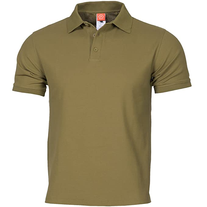 Pentagon Hombres Aniketos Polo T-Shirt Coyote Tamano S: Amazon.es ...