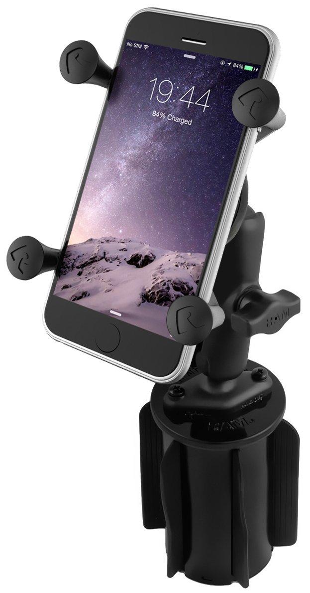 RAM MOUNTS (RAP-299-3-UN7BU Ram-A-Can Ii Universal Cup Holder Mount with Universal X-Grip Cell/Iphone Holder