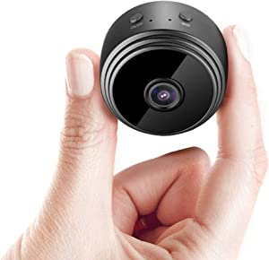 2021 Upgrade Mini Spy Camera ESNOW 1080P Hidden Camera Portable Small HD Nanny Cam with Night Vision and Motion Detection Perfect Indoor Covert Security Camera for Home and Office Hidden Spy Cam