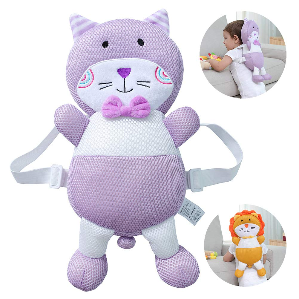 Pink Rabbit, 4-24M Feidoog Toddler Baby Head Protective Safety Pads Cushion Backpack Wear Adjustable Infant Age 4-24 Months