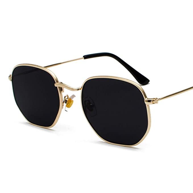 Amazon.com: Gafas de sol Kachawoo vintage doradas para ...