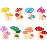 MAOMIA Miniature Mushroom Figurines 8 Pcs Fairy Garden Accessories Mushroom Cake Toppers Micro Landscape Garden…
