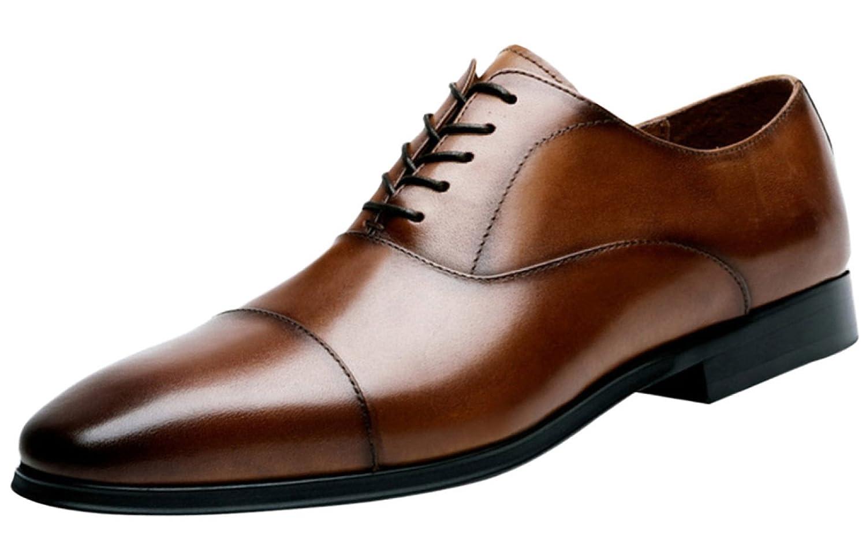 1712/5000 Herren Derby Schuhe Kleid Lace Schuhe Formelle Leder Oxfords Lace Kleid Up schwarz Braun Braun 69c1b4