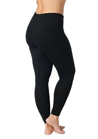 664626671716 Ulla Popken Große Größen Damen Große Größe bis 58+, Leggings mit  Rundum-Gummibund, Slim Fit Jersey-Hose, Elastische Qualität, 665315