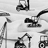 BelleAckerman Flannel Blanket Construction,Black