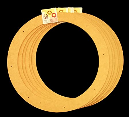 6 Pack 18 Biodegradable Floral Craft Ring Ez Glueable Wreath
