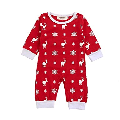 51a0e2b71542 Winsummer Newborn Baby Girls Boys Deer Romper Jumpsuit Christmas ...