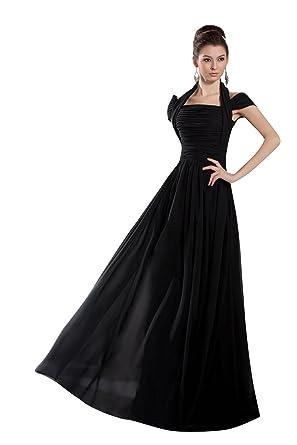ef9da2ed3d479  Wonderfulドレス 通販ミセスドレス マナー フロアレングス 黒 ブラックロングドレス シフォン A