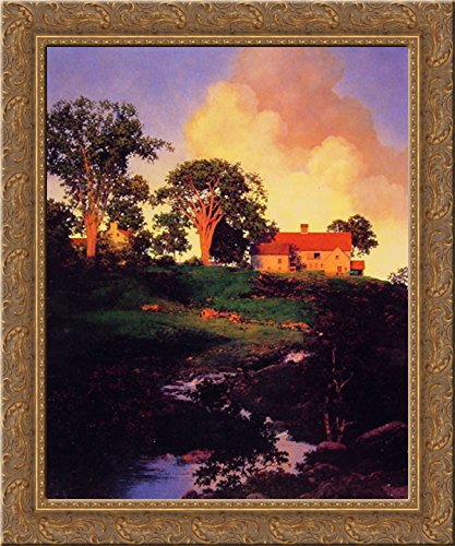 Hunt Farm 20x23 Gold Ornate Wood Framed Canvas Art by Parrish, Maxfield
