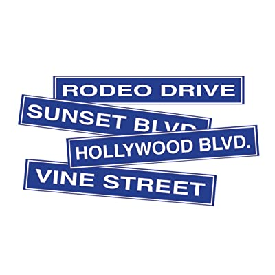 Hollywood Sign Cutouts Party Accessory (1 count) (4/Pkg): Toys & Games