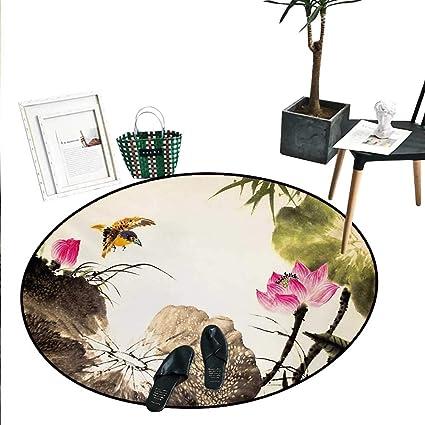 decorative play mat.htm amazon com art round small door mat bird jumping into a lotus in  art round small door mat bird jumping