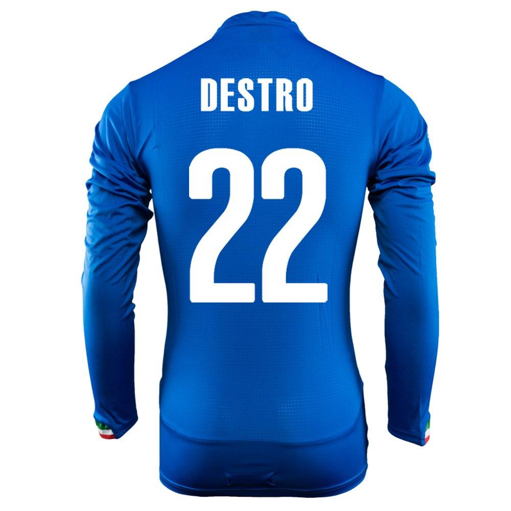 Puma Destro #22 Italy Home Jersey World Cup 2014 Long Sleeve/サッカーユニフォーム イタリア ホーム用 長袖 ワールドカップ2014 背番号22 デストロ B00KWIIS86 M