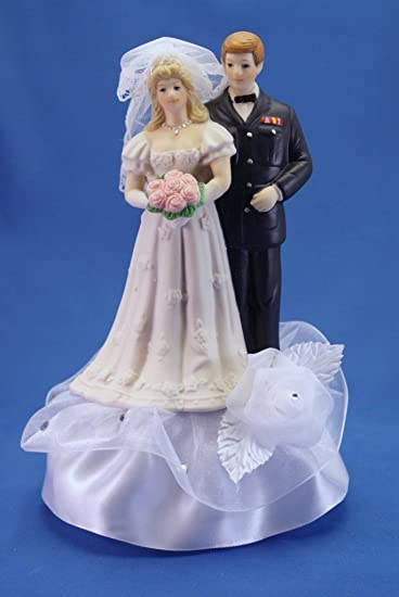 Amazon Military Wedding Cake Topper Shown With Air Force
