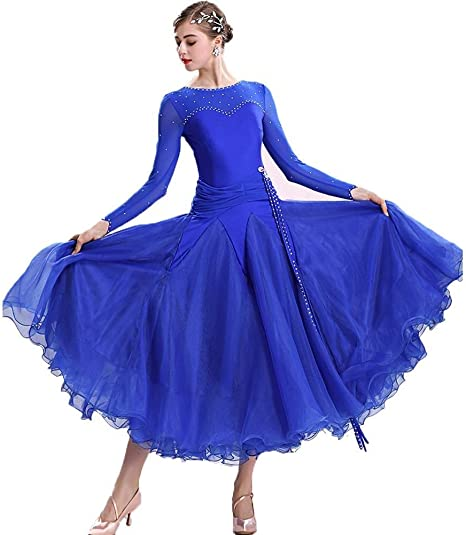 TFF Vestido De Vals, Vestido De Baile De Salón, Falda De Ensayo De ...