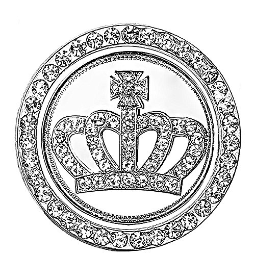 Rhinestone Car Bling Ring Crystal Crown Emblem Sticker Car Engine Start Decoration Ring & Emblem Auto Interior Decal Bling Diamond for Auto Ignition Button (Rhinestone Ring + Crown Emblem Sticker)