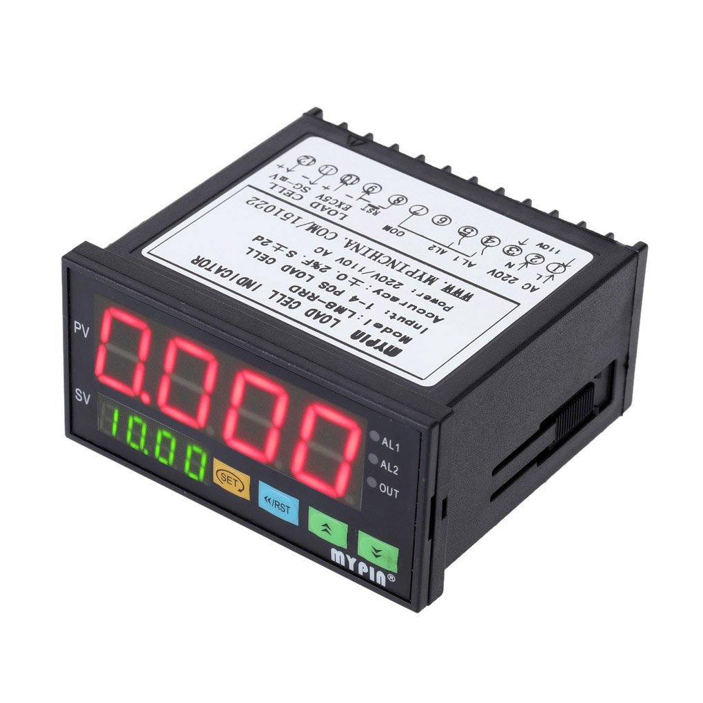 Elenxs MYPIN LM8-RRD Digital Weighing Controller LED Display Weight Controller 1-4 Load Cell Signals Input 2 Relay Output 4