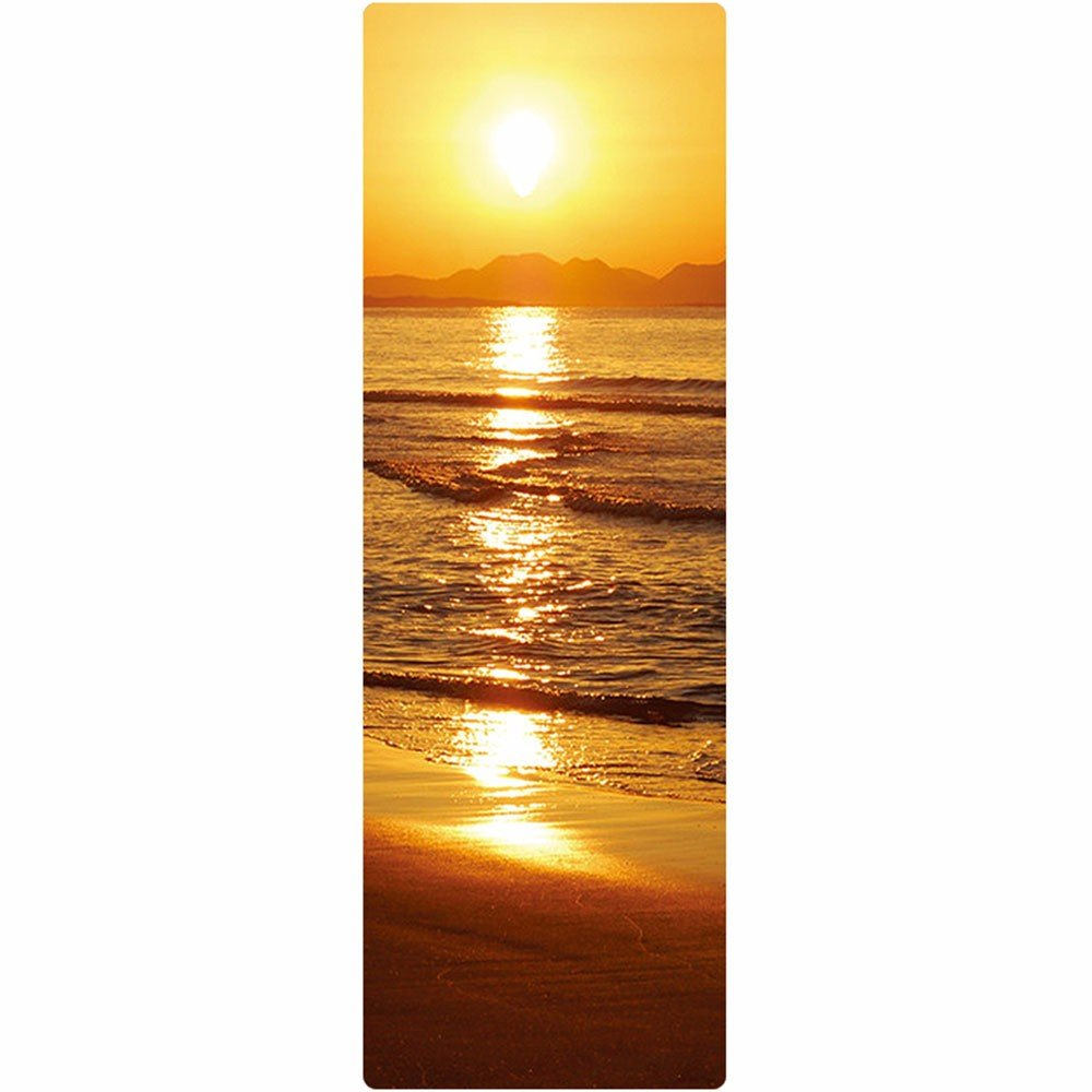 SJQKA-Natural Rubber Yoga Mat, Anti-Skid Beginners, Men And Women Mats, Thickening, Extended Printing, Yoga Fitness Mat,Sea And Sky Merged Into One by SJQKA-yoga mat
