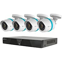 EZVIZ QUAD HD 4MP Outdoor IP PoE Surveillance System W/ 4 Weatherproof HD Cameras