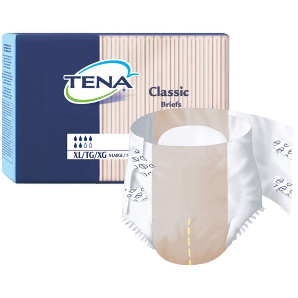 Tena Classic Adult Diapers Large - Case of 100