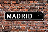 Teisyouhu Stree Sign Plaque Madrid Sign Gift Madrid Visitor Souvenir City In Spain Madrid Native Metal Aluminum Sign Wall Plaque Decoration
