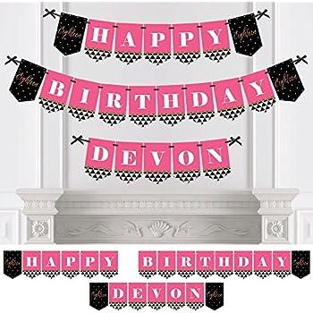 Pink Princess Crown Personalised Birthday Party Bunting Banner Garland