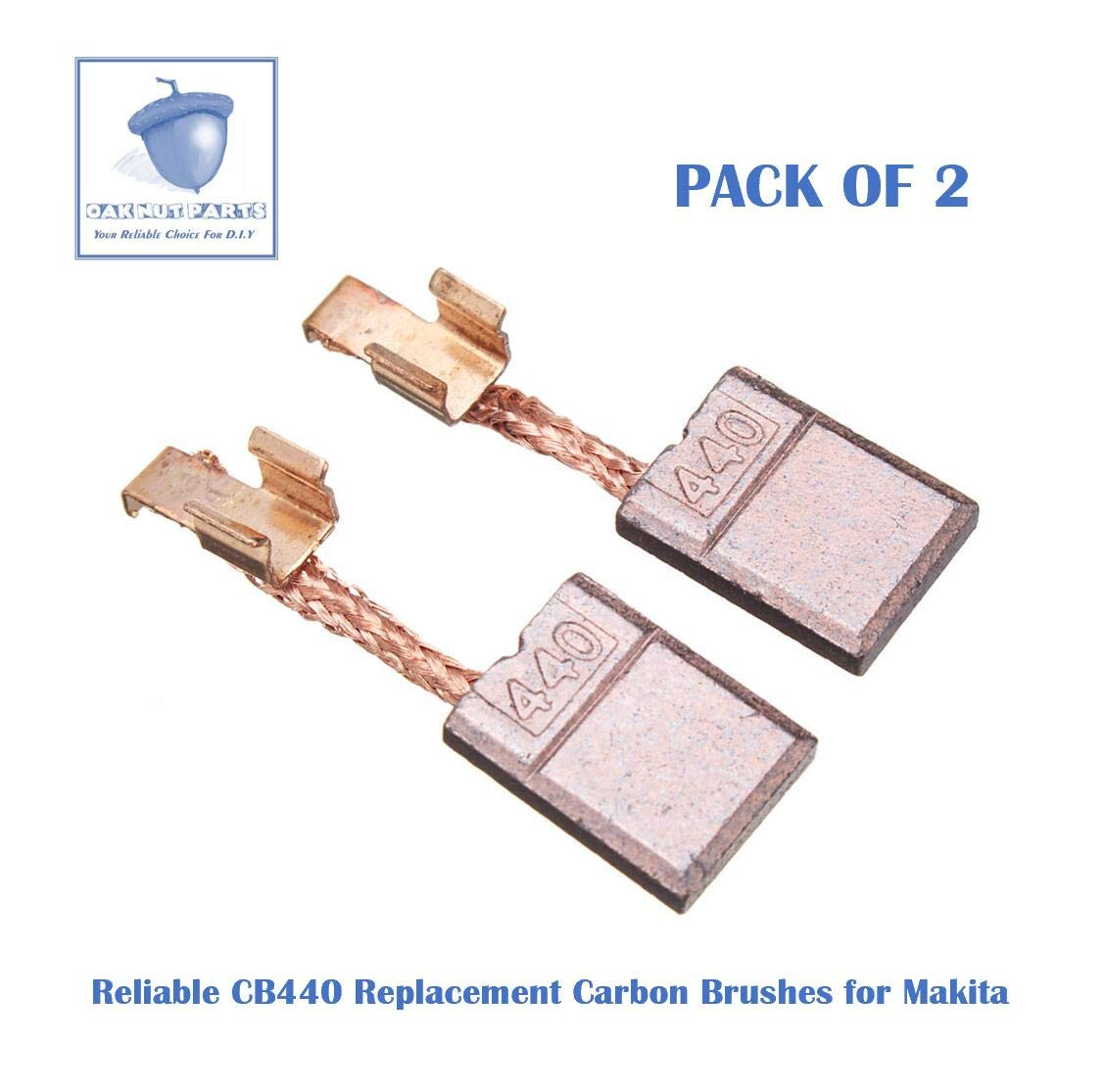 2pcs Reliable Cb440 Carbon Brushes Replacement For Makita...