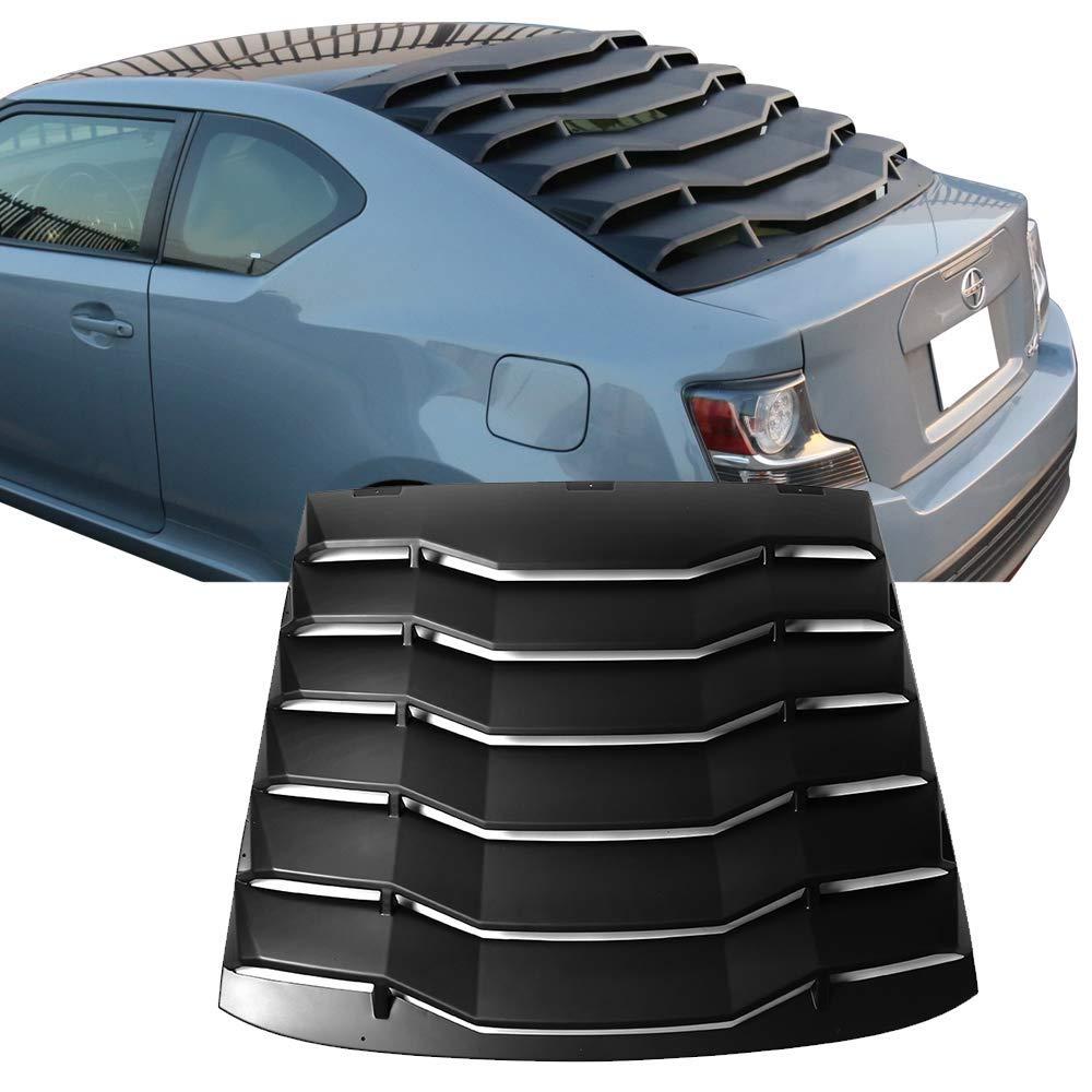 Rear Window Windshield Louver Fits 11-16 Scion TC Unpainted PP by IKON MOTORSPRTS