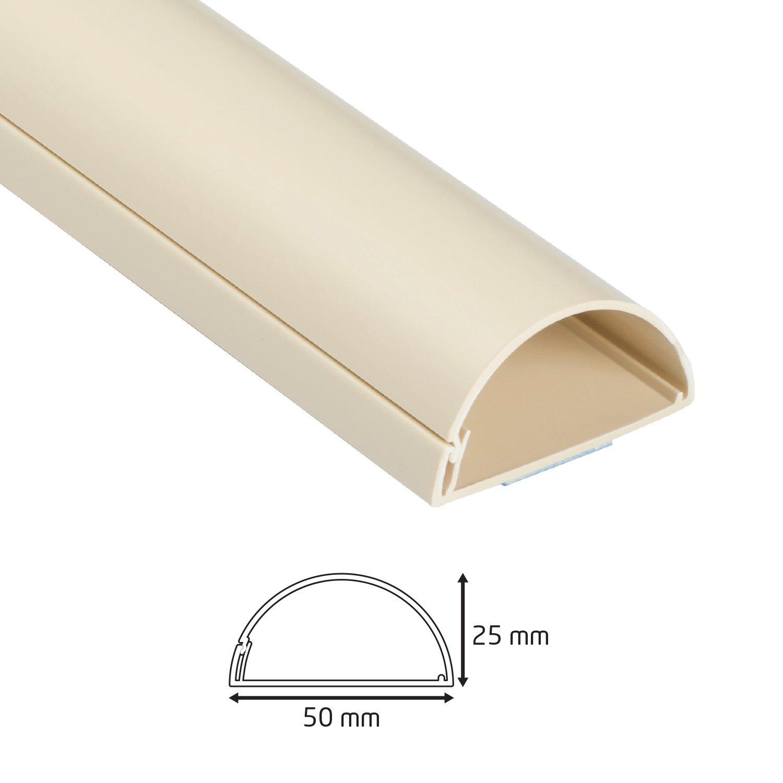 Goulotte /Électrique Noir D-Line 30x15mm Moulure D/écorative en Demi-Cercle 1M3015B Cache-C/âble 1m Longeur