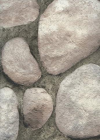 York Wallcoverings RN1067 Modern Rustic River Rock Wallpaper (Fireplace Wallpaper)