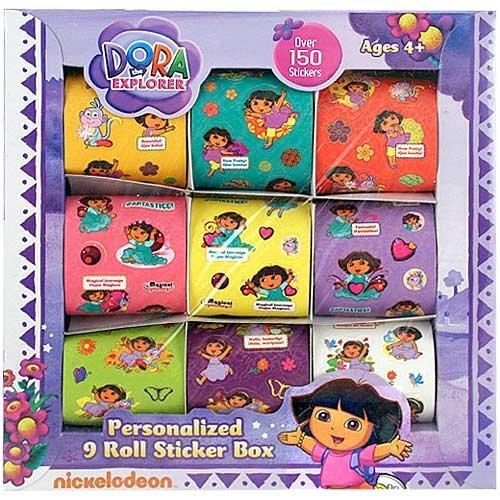 Dora the Explorer Personalized 9 Roll Sticker Box (Dora The Explorer Abc Game)