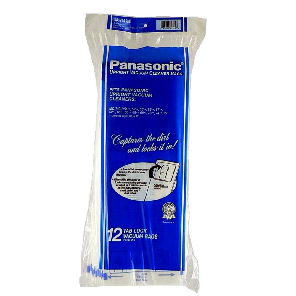 Panasonic MC-V145MT 12-Pack Type U-6 Upright Vacuum Bag by Panasonic