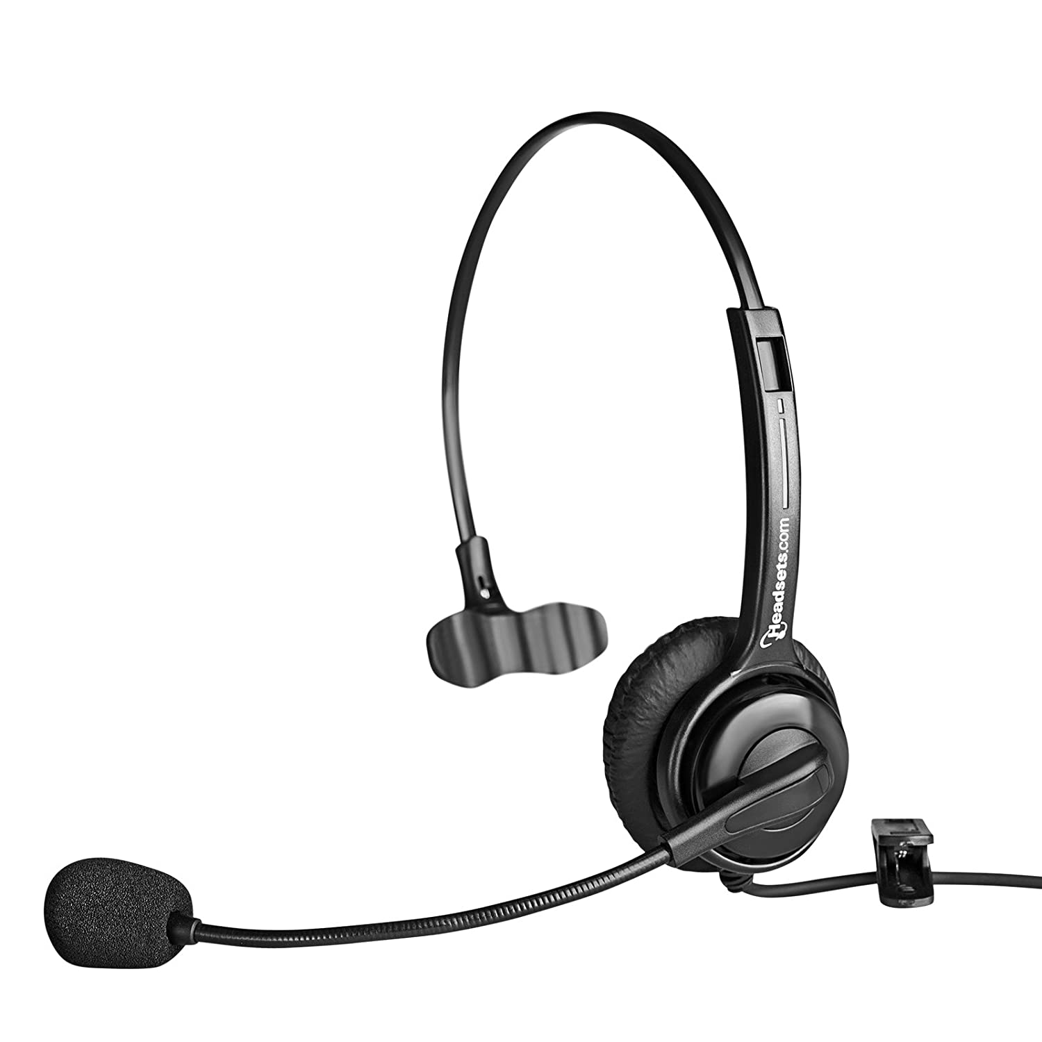 Executive Pro Single-Ear Computer USB Headset – Works with PC and Mac – Great for Skype or Voice Dictation (Noise-Canceling) Headsets.com