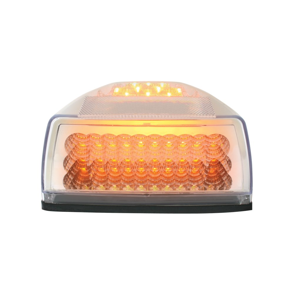 Grand General 77233 Amber Spyder 42-LED Peterbilt Headlight Turn Signal Sealed Light with 3 Wires for Front/Park/Turn Functions and Clear Lens