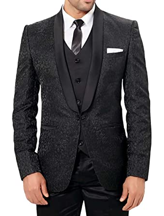 772bfcc7 INMONARCH Mens Designer Black 6 Pc Party Wear Tuxedo Suit PW228