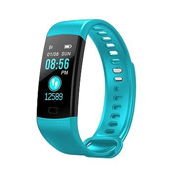 qhj Smart Watch Sport Fitness Actividad de frecuencia cardíaca Tracker Tensiómetro de reloj, menta: Amazon.es: Deportes y aire libre
