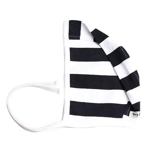 db493daedc2 TongBella 100% Premium Organic Cotton Baby Bonnet Black White Stripe