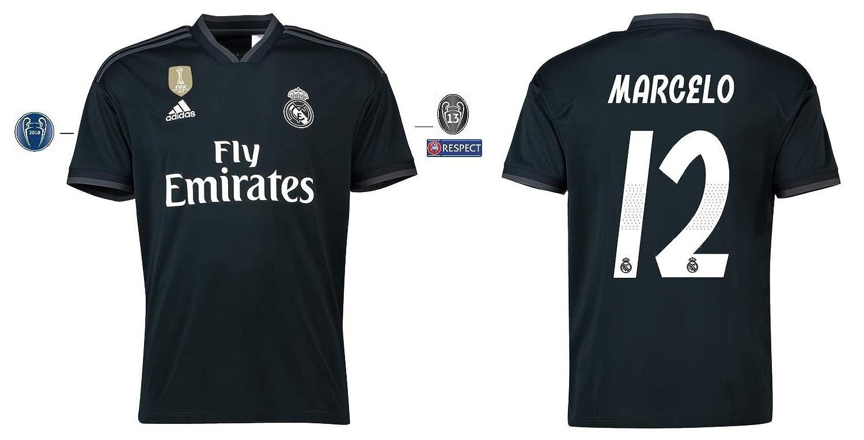 Real Madrid Trikot Kinder 2018-2019 Away UCL - Marcelo 12