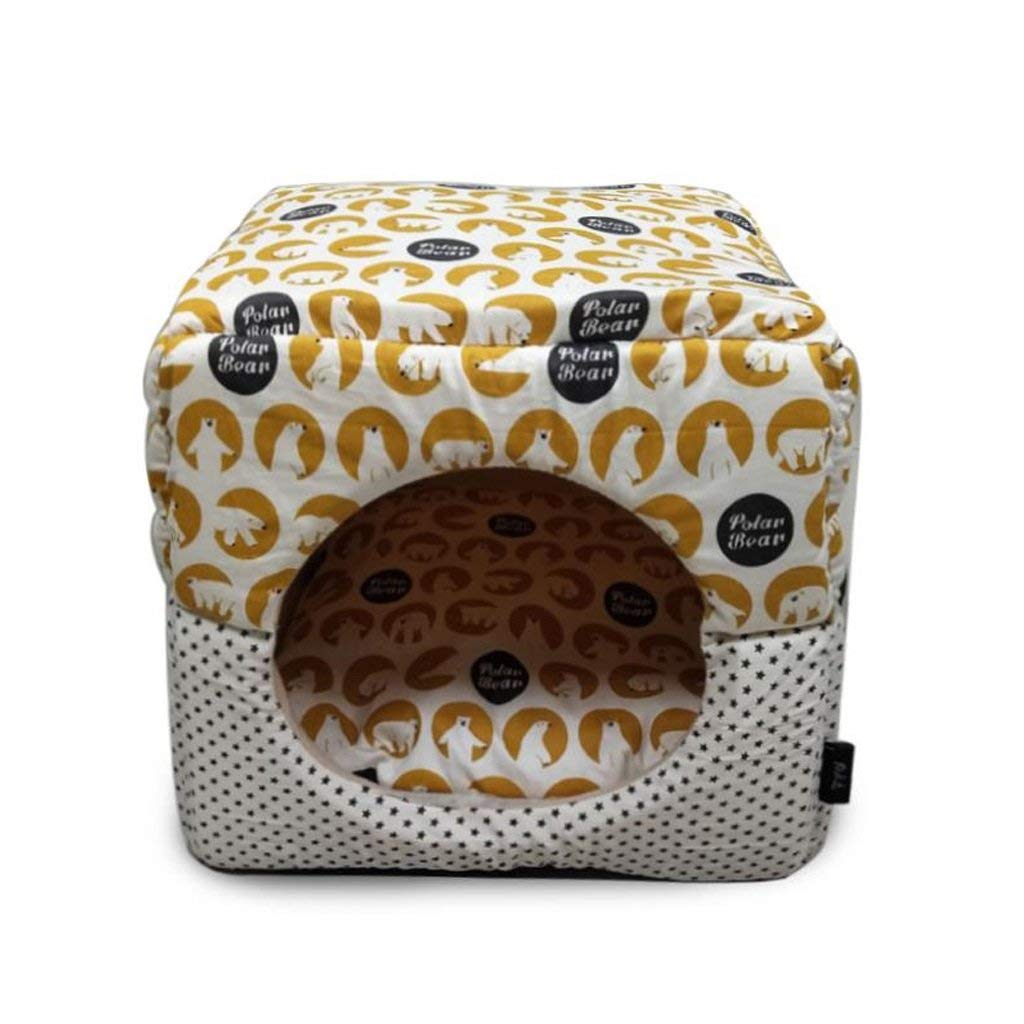 C Gperw Pet supplies Dog Bed Pet House Kennel Cat Dog House Puppy Nest Sleeping Bag Keep Warm Pet Supplies mprove sleep and car(color   B) Non Slip Cushion Pad (color   A)
